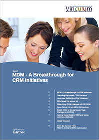 MDM - A Breakthrough for CRM Initiatives