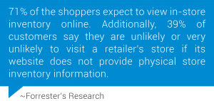 Forrester's Research - Customers need inventory information more than ever