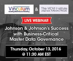Master data management webinar with Johnson & Johnson and The MDM Institute